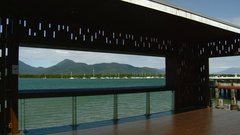 Cairns Australia - View of Harbor From Promenade Stock Footage