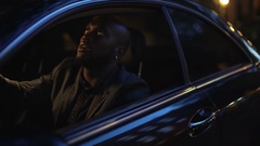 Lifestyle footage of African American man stuck in traffic Stock Footage