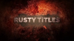 Rusty Titles Stock After Effects
