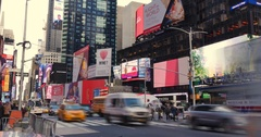 Timelapse View of Times Square in Midtown Manhattan   Stock Footage