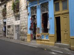 Souvenir shop in Havana Stock Footage