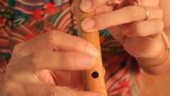 Musicians play music with flute Arkistovideo