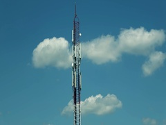 Antenna timelapse tower Stock Footage
