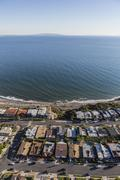 Los Angeles California Beach Houses Aerial Stock Photos