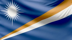 Realistic beautiful Marshall islands flag 4k Stock Footage