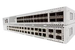 Gigabit Ethernet switch with SFP slot Stock Photos