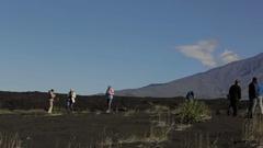 Panorama of the volcano Tolbachik stock footage video Stock Footage