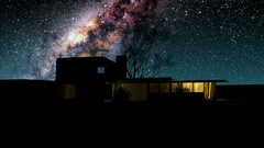 House and Milky Way stars at night. Elements of this image furnished by NASA Stock Footage