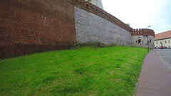 KRAKOW, POLAND The walls of the Wawel Castle Stock Footage