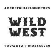 Vintage typeface. Retro distressed alphabet font Stock Illustration