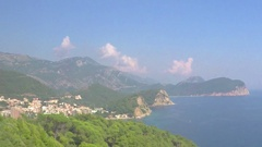 Budva, Montenegro  View of the beach Stock Footage
