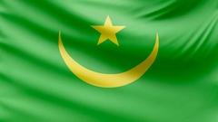 Realistic beautiful Mauritania flag 4k Stock Footage