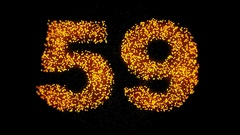 60 seconds particles countdown Stock Footage