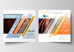 Business templates for square brochure, magazine, flyer, booklet. Leaflet cover Stock Illustration