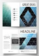 Templates for bi fold brochure, magazine, flyer or report. Cover design template Stock Illustration