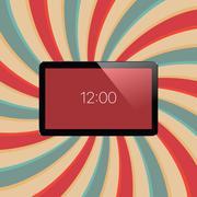 Digital tablet with shiny sensor screen. Electronic smart device. Mobile ga.. Piirros