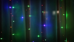 Christmas lights in the window. Stock Footage