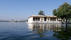Udaipur lake in India Stock Footage