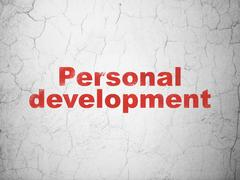 Education concept: Personal Development on wall background Stock Illustration