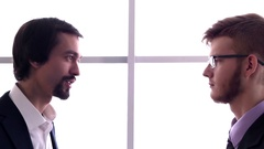 The Tense Conversation in the Business Center Stock Footage