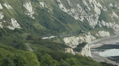Folkestone Warren train, Kent, England Stock Footage