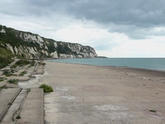 Folkestone Warren beach, Kent, England Stock Footage