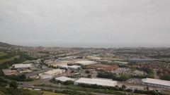 Folkestone from above Stock Footage