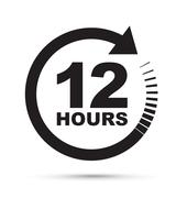 Twelve hour icon Stock Illustration