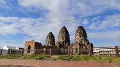 Phra Prang Sam Yod, Lopburi, Thailand. Stock Footage