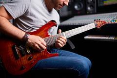 Guitarist playing Stock Photos