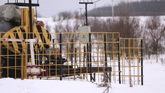 Oil Pump In Russia Is Unworking Stock Footage