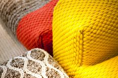 Cotton yarn. parts of furniture Stock Photos