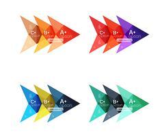 Vector colorful arrow option infographics templates set Stock Illustration