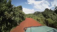 Timelapse from safari car driving through Ngorongoro National Park, Tanzania Stock Footage