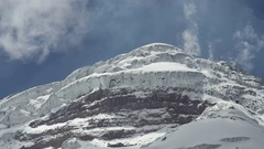 The glaciers on the summit of Cotopaxi Volcano in the Ecuadorian Andes. Stock Footage