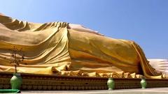 Big Reclining Buddha Monument Stock Footage