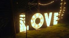 Wedding decor, glitters love 4K Stock Footage