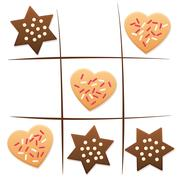 Christmas Tic Tac Toe Cookies Game Stock Illustration