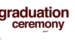 Graduation ceremony animated word cloud. Stock Footage