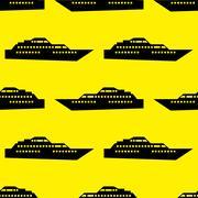 Ship seamless pattern Stock Illustration