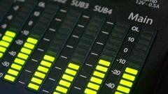 Sound level meter equalizer Stock Footage