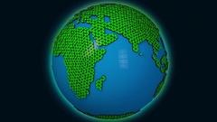4K Minimal Design Earth Spinning Seamless Loop 3D Animation 2 Stock Footage