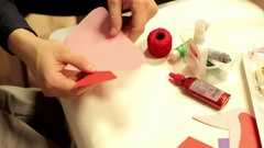 Making, preparing decorations, christmas ornaments Stock Footage