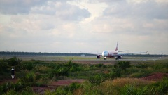 AirAsia plane Airbus A320 Stock Footage