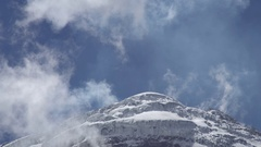 Glaciers on the summit of Cotopaxi Volcano in the Ecuadorian Andes Stock Footage