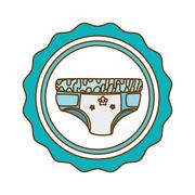 Baby shower icon image Stock Illustration