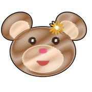 Teddy bear icon image Stock Illustration