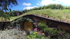 Lord Of The Rings Movie Set Hobbiton New Zealand Stock Footage