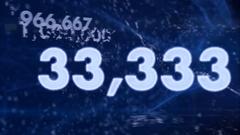 Rising one million. animation Stock Footage