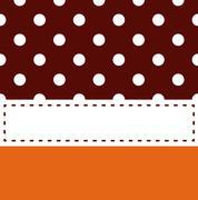 Thanksgiving retro frame with polka dots Stock Illustration